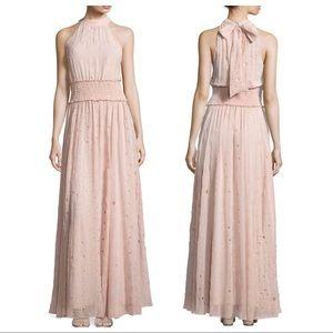 Zac Posen Calypso Eyelet Halter Gown Size 2US